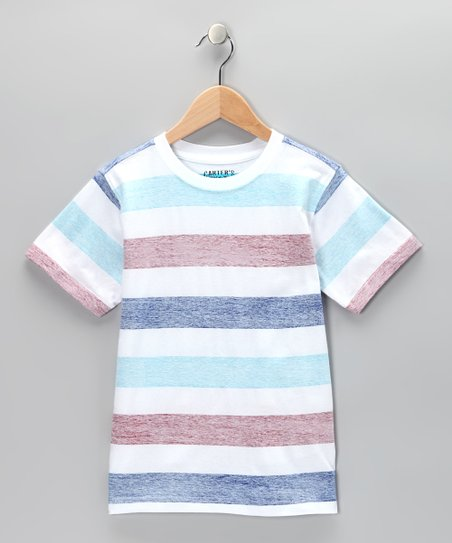 Pure White Stripe Crewneck Tee - Toddler &amp; Boys