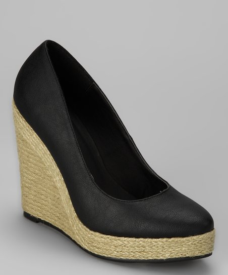 Black Anabel Wedge