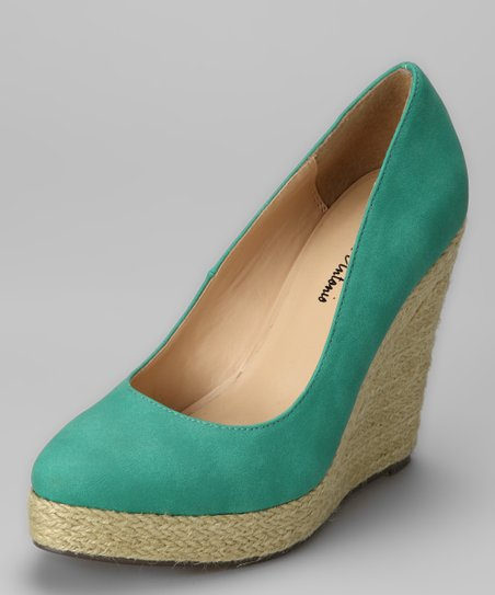 Teal Anabel Wedge
