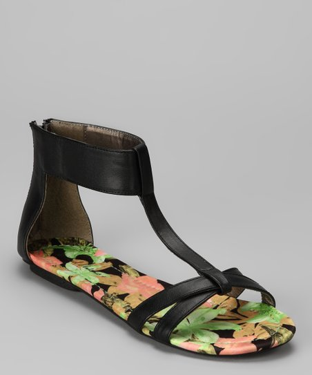 Black Dancy Sandal