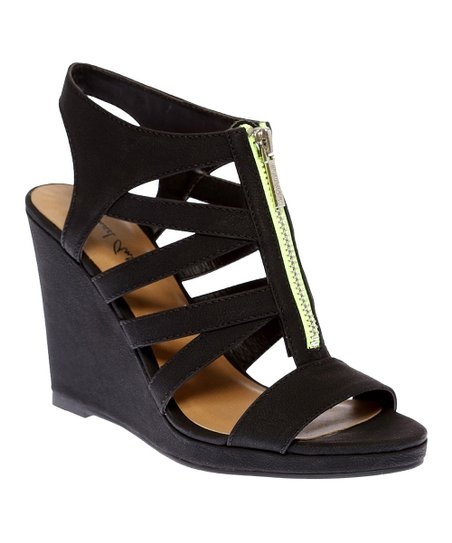 Black Glennaa Wedge Sandal