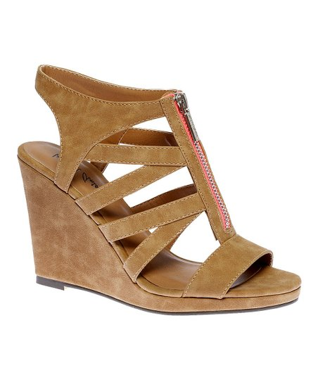 Tan Glennaa Wedge Sandal