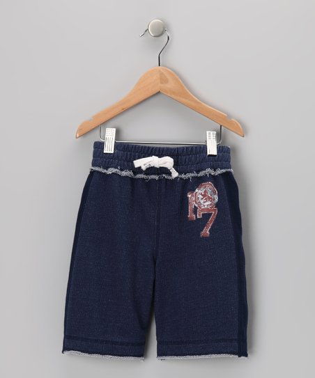 Indigo French Terry Pull-On Shorts - Infant, Toddler & Boys
