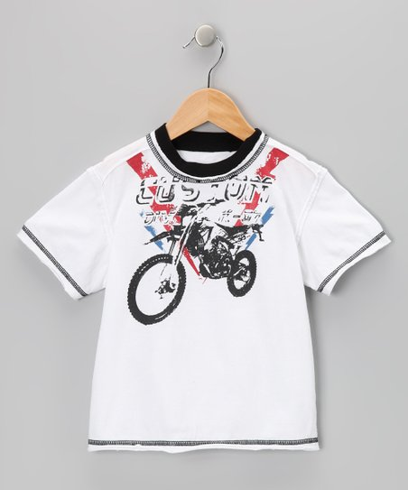 White Bike Washed Tee - Toddler &amp; Boys