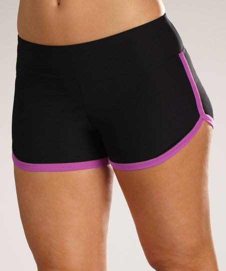 Black & Purple Sorbet Shorts