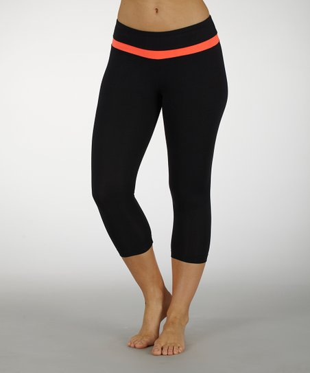 Firey Coral Platinum Performance Capri Leggings