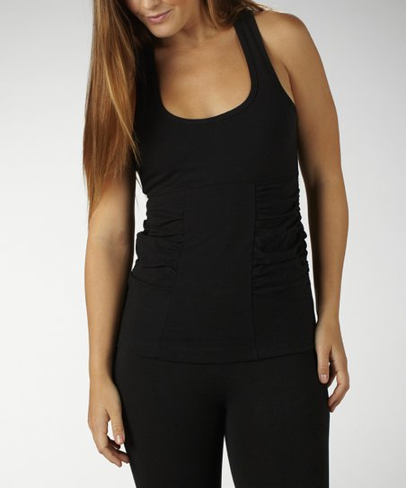 Black Magic Duchess Ruched Slimming Tank