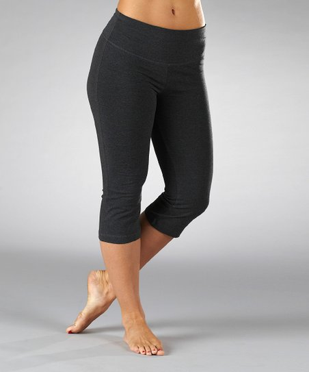 Heather Charcoal Tummy Control Capri Pants