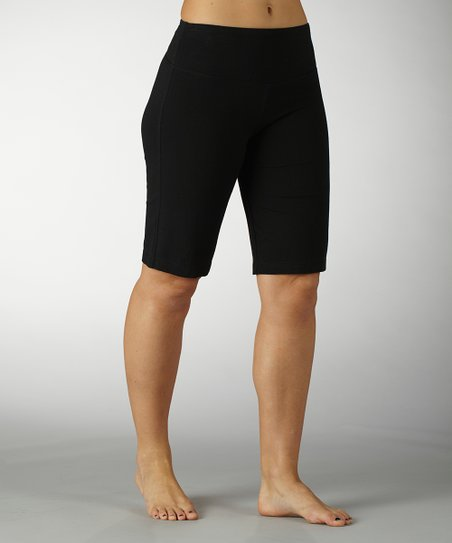 Black Essential Tummy Control Bermuda Shorts