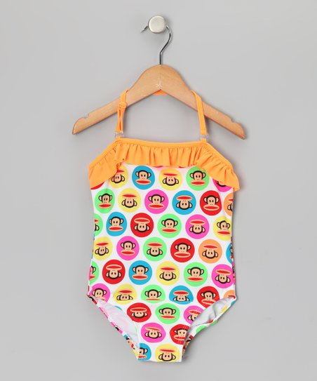 Orange Julius Halter One-Piece - Girls