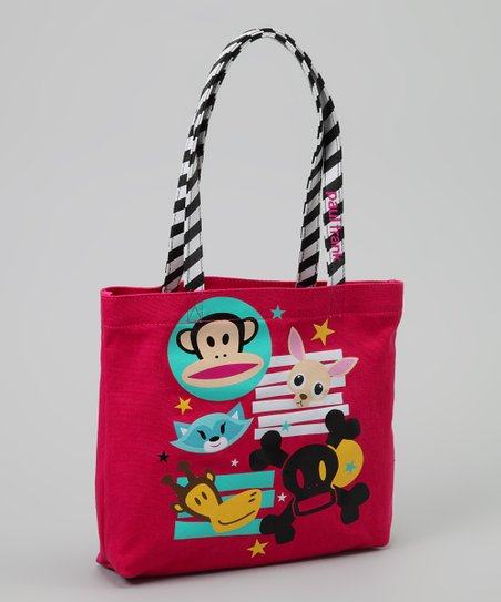 Red Stripe Skull Tote