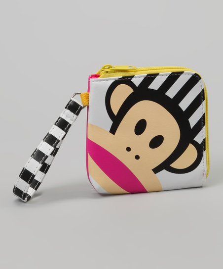 Black &amp; White Stripe Julius Wristlet