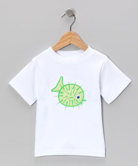 White Puffer Fish Tee - Toddler & Boys
