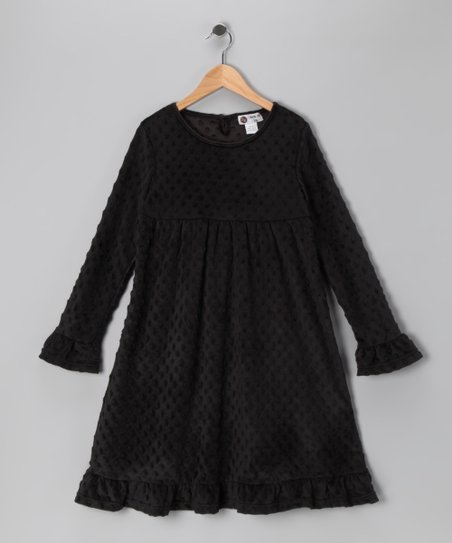 Black Minky Swing Dress - Infant, Toddler & Girls