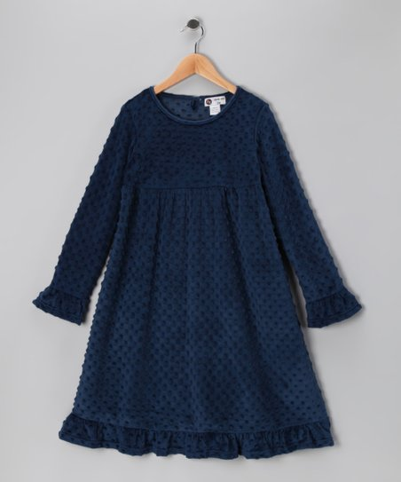 Navy Minky Swing Dress - Infant &amp; Toddler