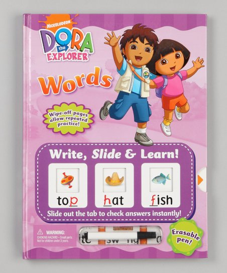 Words Write, Slide &amp; Learn! Dora the Explorer Hardcover