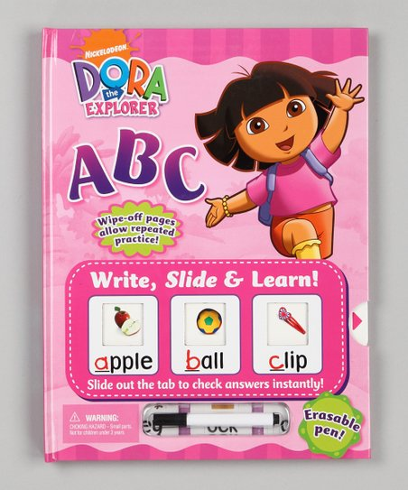 ABC Write, Slide &amp; Learn! Dora the Explorer Hardcover