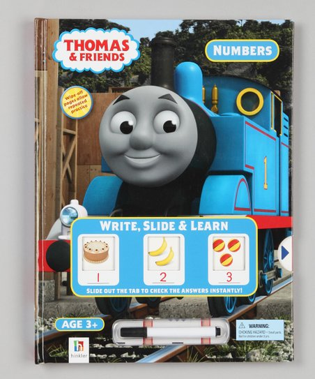 Numbers Write, Slide &amp; Learn Thomas &amp; Friends Hardcover
