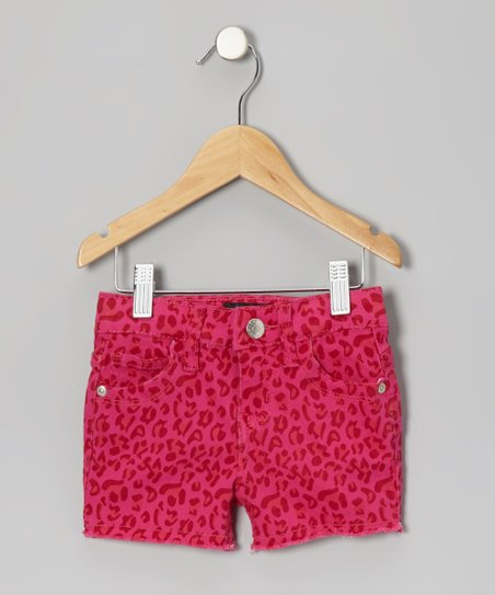 Fuchsia Leopard Shorts - Toddler & Girls