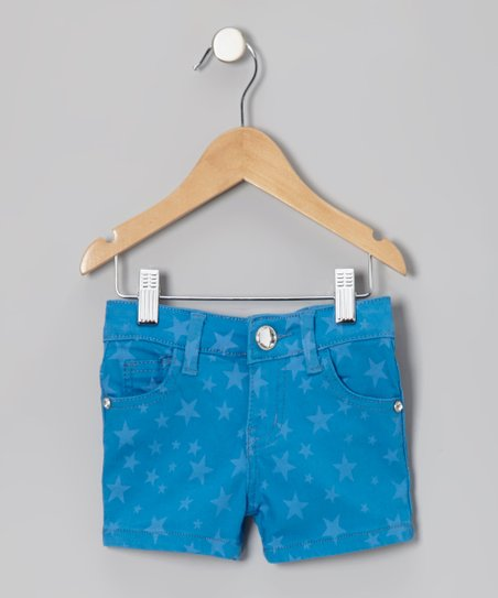 Blue Star Shorts - Toddler & Girls