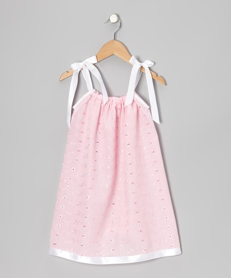 Pink Eyelet Swing Dress - Infant, Toddler & Girls