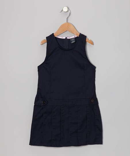 Navy Pleated Jumper - Girls