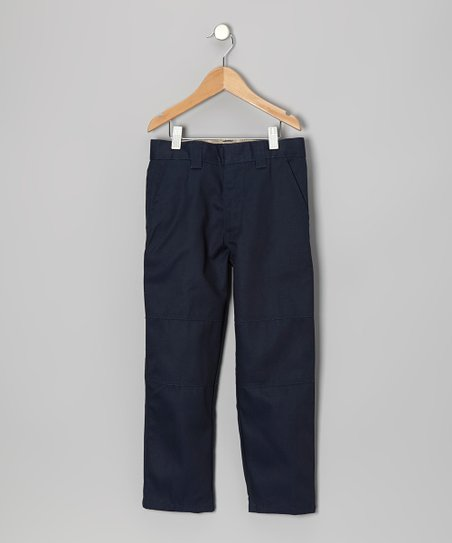 Navy Knee-Patch Pants - Boys