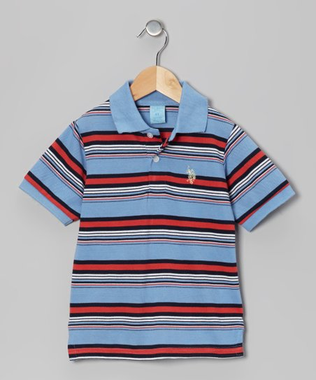 Surf Spring Stripe Polo - Boys