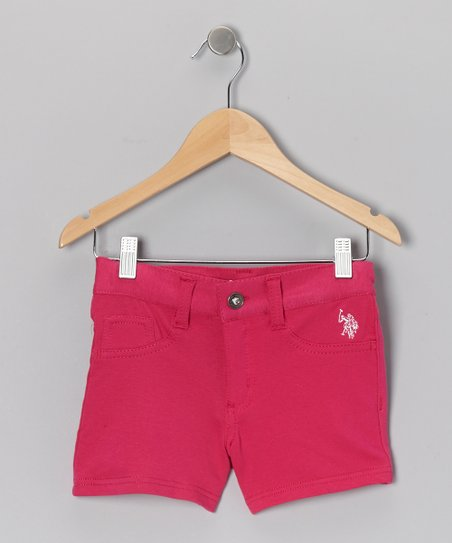 Fuchsia Shorts - Girls