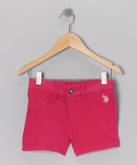 Fuchsia Shorts - Girls