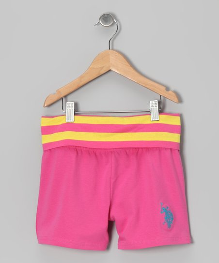 Rose Yoga Waist Shorts - Girls