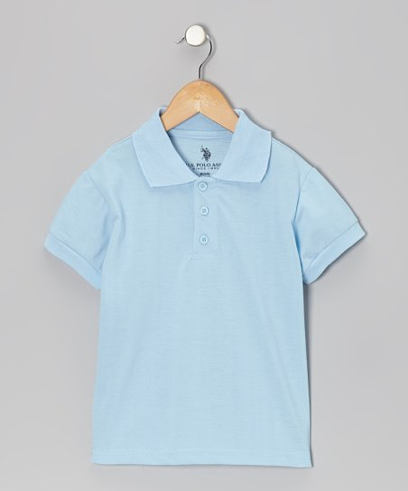 Light Blue Short-Sleeve Polo - Boys