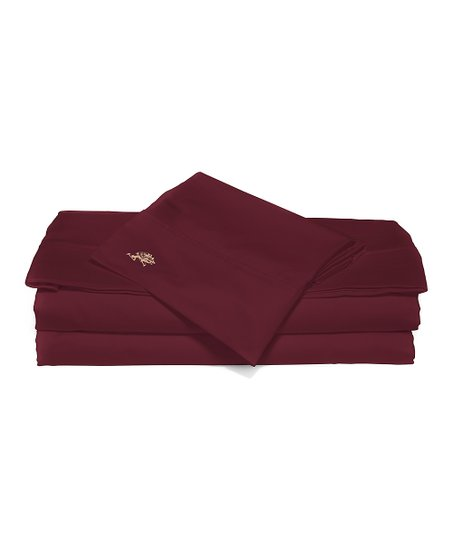 Red Sateen Queen Sheet Set