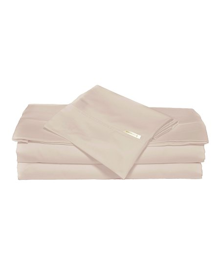 Khaki & Navy King Sheet Set