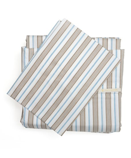 Light Blue Stripe King-Size Sheet Set