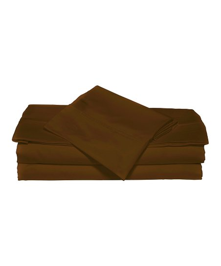Cocoa Luxurious Solid Sheet Set