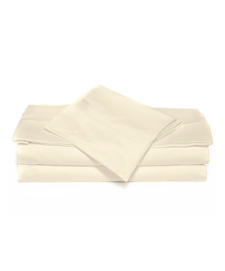 Ivory Luxurious Solid Sheet Set
