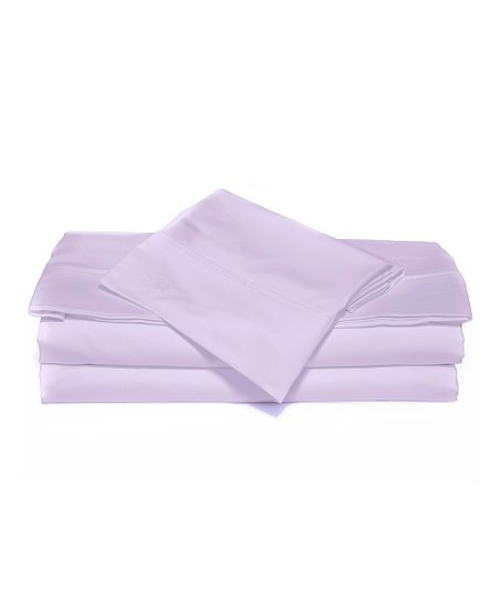 Lavender Luxurious Solid Sheet Set