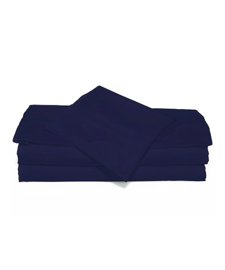 Midnight Navy Luxurious Solid Sheet Set