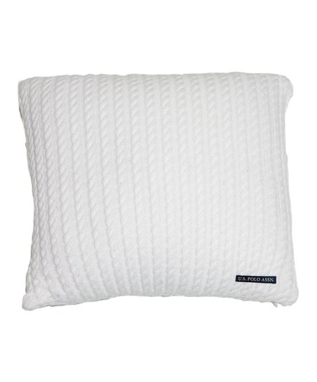 White Sweater Knit Decorative Pillow