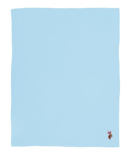 Blue Fleece Throw