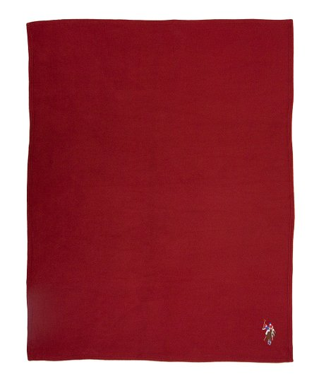 Burgundy Fleece Throw
