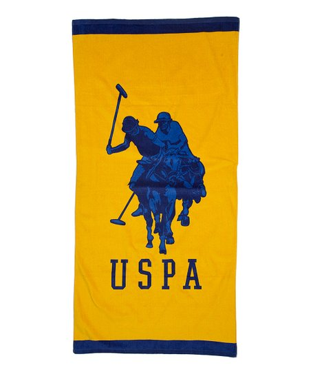 Yellow & Navy Double Horse Beach Towel