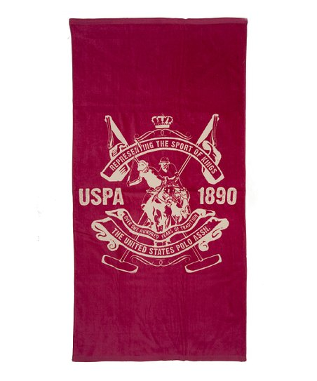 Fuchsia Pink Palm Springs Crest Beach Towel