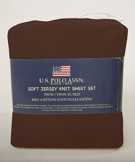 Cocoa SuperSoft Jersey Knit Sheet Set