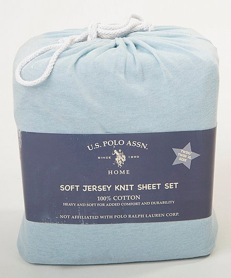 Heather Blue SuperSoft Jersey Knit Sheet Set