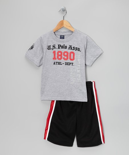 Gray &amp; Black ‘1890’ Tee &amp; Shorts - Toddler &amp; Boys