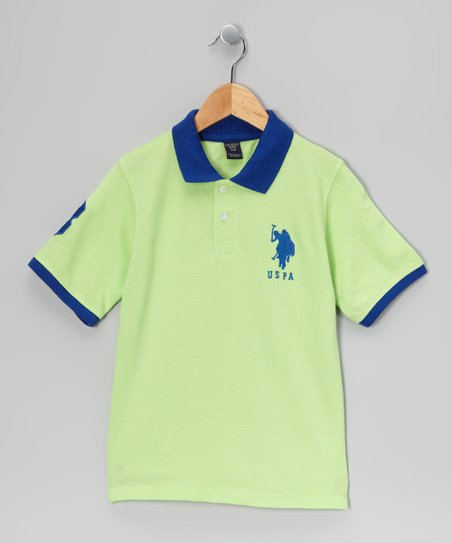 Mint & Blue 'USPA' Polo - Toddler & Boys
