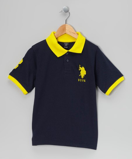 Navy & Yellow 'USPA' Polo - Boys