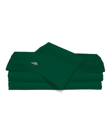 Hunter Green Sateen Luxury Sheet Set